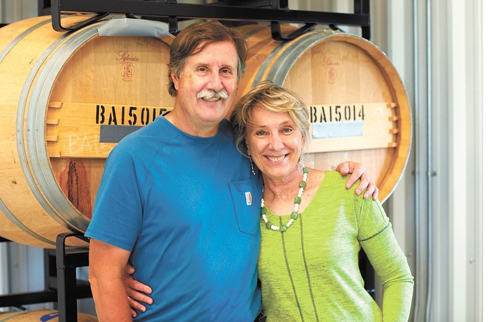Winescape Winery owners Patricia and Philip Butterfield. - DOUG ADESKO PHOTO