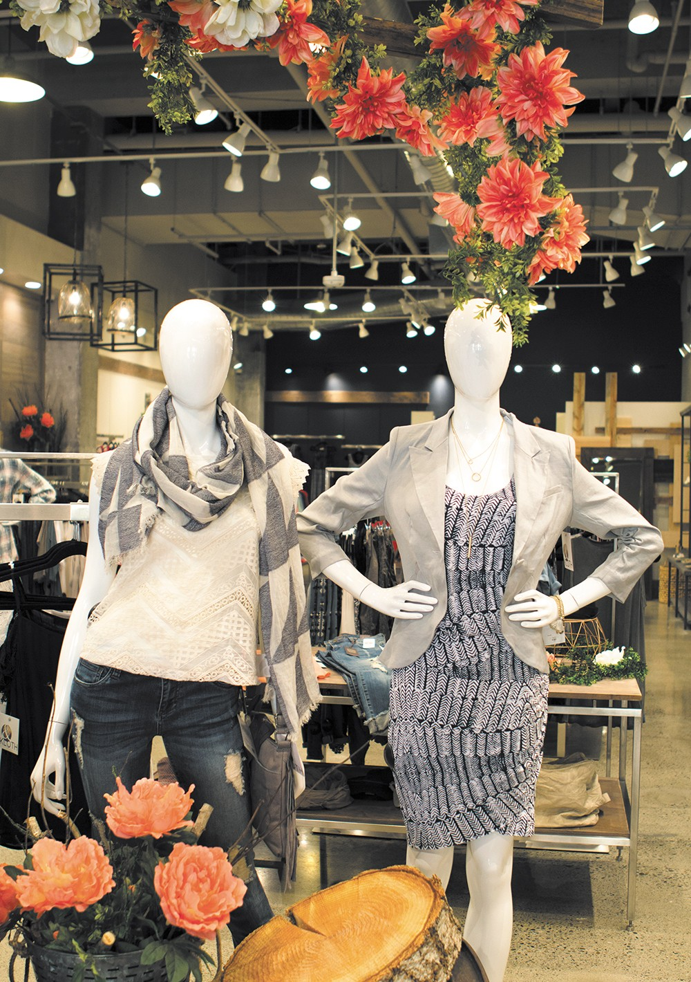 Stylish mannequins on display at &Kloth. - EMMA ROGERS PHOTO