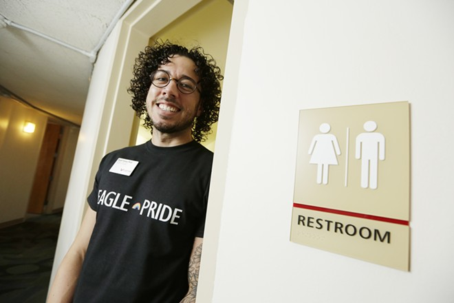 "Nick Franco, director of the EWU Pride Center, says the new gender-inclusive housing is the center's biggest accomplishment ""recently."" - YOUNG KWAK"