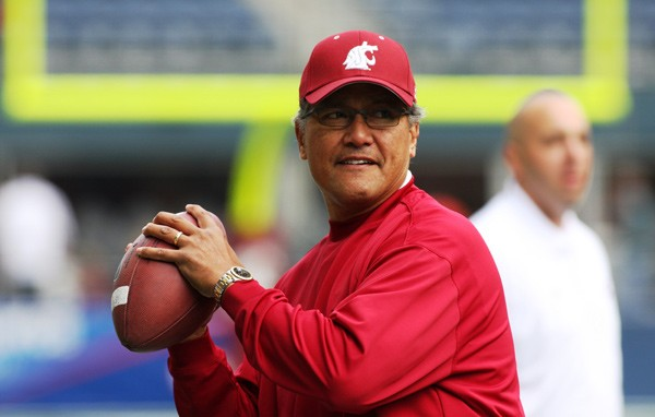 "Former WSU quarterback Jack Thompson, nicknamed the ""Throwin' Samoan."" - COURTESY OF WSU"