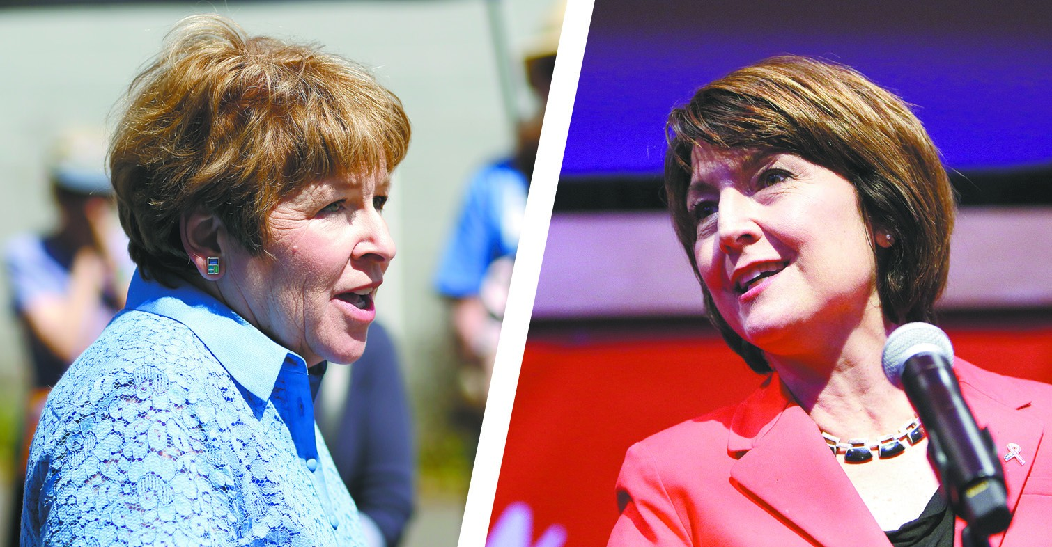 Lisa Brown (left) and Cathy McMorris Rodgers. - YOUNG KWAK