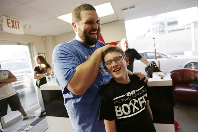 Welliver trains sixth-grader Grant Wacker five times a week. - YOUNG KWAK