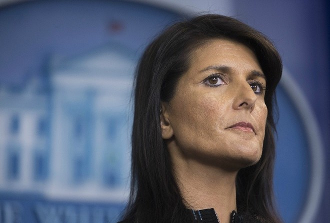 U.N. Ambassador Nikki Haley - TOM BRENNER/THE NEW YORK TIMES