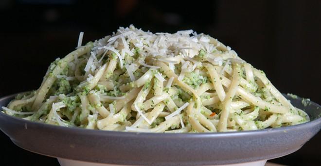 Broccoli cream pesto - DANIEL WALTERS PHOTO