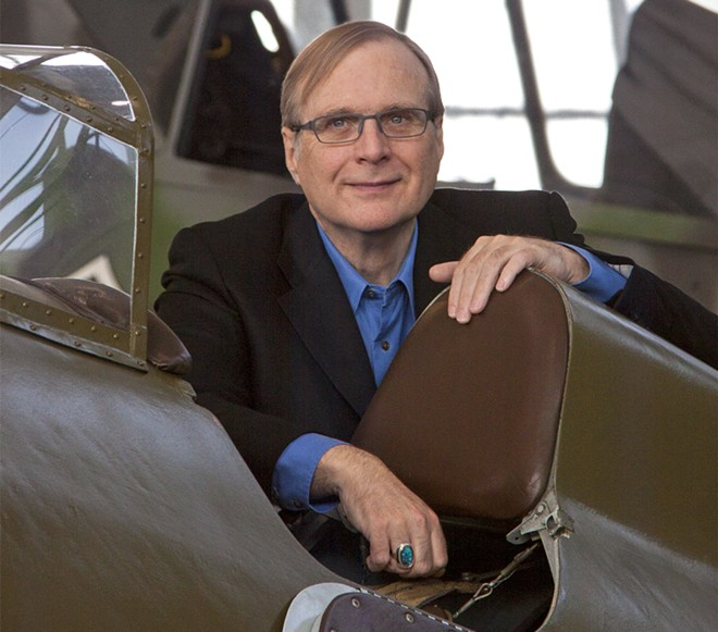 Paul Allen at the Flying Heritage Museum in Everett. - WIKIMEDIA COMMONS/MILES HARRIS