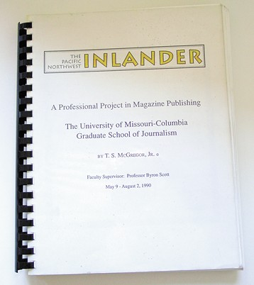 The cover of Ted's graduate project where he outlined his idea for the paper.