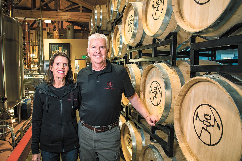 Mary and Rich Clemson founded Warrior Liquor last year. - ERICK DOXEY PHOTO