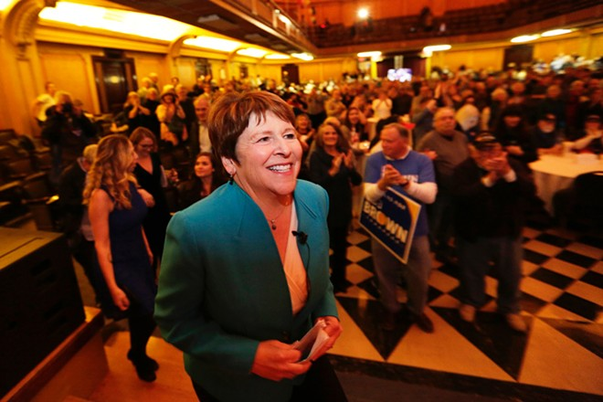 Democrat Lisa Brown brought the biggest challenge yet to Rep. Cathy McMorris Rodgers, but fell short tonight. - YOUNG KWAK