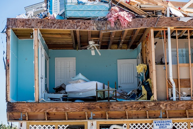 Damage in the aftermath of Hurricane Michael in Mexico Beach, Fla., Oct. 13, 2018. By the end of this century, some parts of the world could face as many as six climate-related crises at the same time, researchers have concluded. - JOHNNY MILANO/THE NEW YORK TIMES