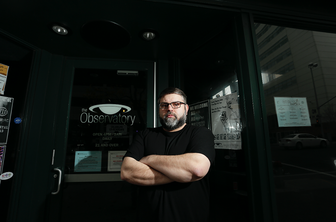 Observatory owner Tyson Sicilia has had to deal with a slew of fake reviews after he took a stance against local Proud Boys. - YOUNG KWAK PHOTO