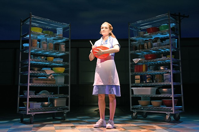 Christine Dwyer stars as Jenna in the touring production of Waitress, which runs through Dec. 16 at the First Interstate Center for the Arts.