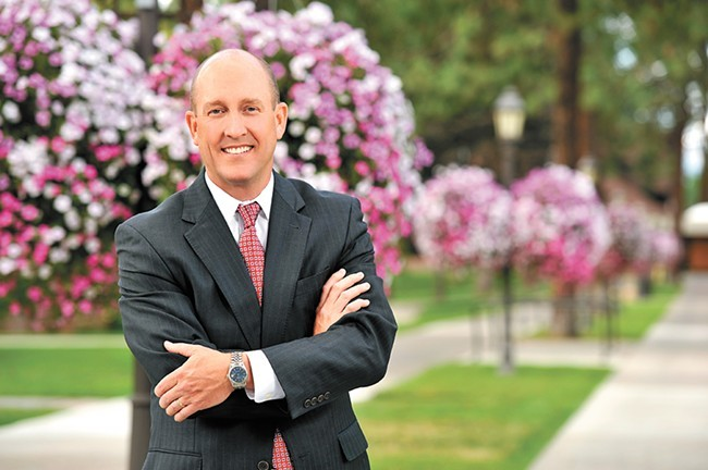 President Beck Taylor enjoys a beautiful, smoke-free campus at Whitworth - WHITWORTH