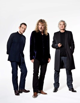 From left to right: John Paul Jones, Robert Plant and Jimmy Page.