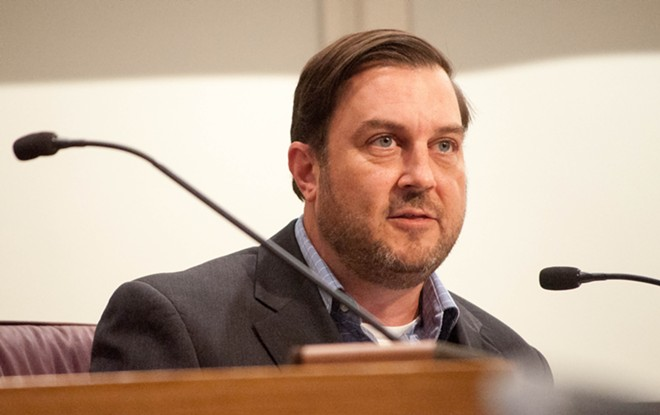 Spokane City Council President Ben Stuckart raises the possibility of taxing gun sales, similar to Seattle. - DANIEL WALTERS PHOTO