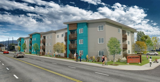 Jayne Auld Manor rendering by ZBA Architects. - COURTESY OF SPOKANE HOUSING VENTURES