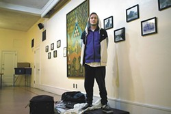 Timothy King, 24, who this winter was staying at Westminster Vhurch, one of the city of Spokane's warming centers. - WILSON CRISCIONE PHOTO