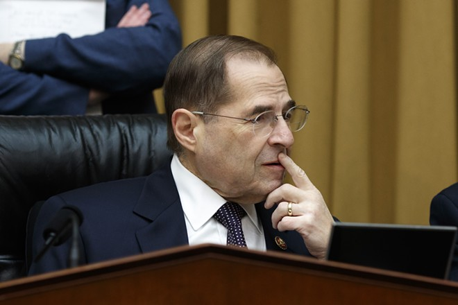 Rep. Jerrold Nadler (D-N.Y.), chairman of the House Judiciary Committee, ahead of a hearing on Capitol Hill in Washington, Feb. 6, 2019. Nadler said March 3 that he planned to request documents from more than 60 people with ties to President Donald Trump, his administration and his businesses, including the president's eldest son, Donald Trump Jr., as part of the committee's investigation of the president. - TOM BRENNER/THE NEW YORK TIMES