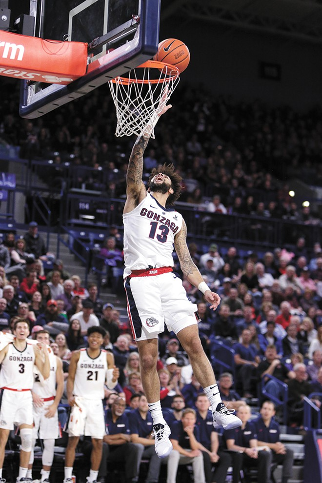 Senior Josh Perkins is the only starter remaining from the Zags' 2017 Final Four run. - YOUNG KWAK PHOTO