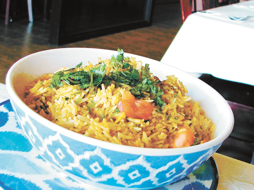 Mango Tree's biryani rice dish. - CARRIE SCOZZARO PHOTO