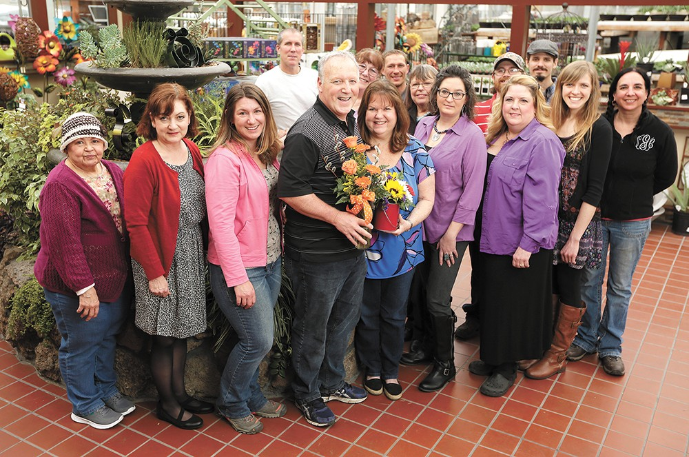 The team at Liberty Park Florist. - YOUNG KWAK PHOTO
