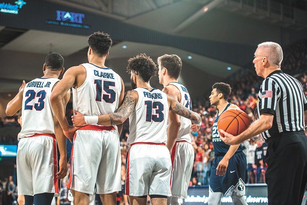 The Zags could see some familiar foes in this year's tournament. - DAWSON REYNIER PHOTO