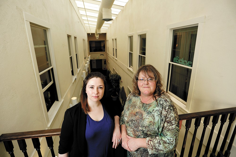 Victims advocates Ligeia DeVleming (left) and Kristina Hammond assist vulnerable adults through the legal system. - YOUNG KWAK PHOTO