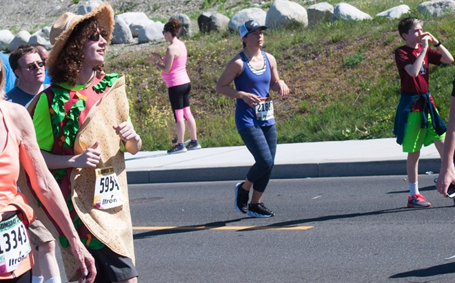 Can you really say you've run Bloomsday if you weren't wearing a crunchy taco outfit the entire time? - DANIEL WALTERS PHOTO