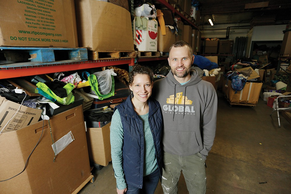 Amy and Brent Hendricks' Global Neighborhood thrift shop helps refugees in Spokane gain job skills and cultural understanding. - YOUNG KWAK PHOTO