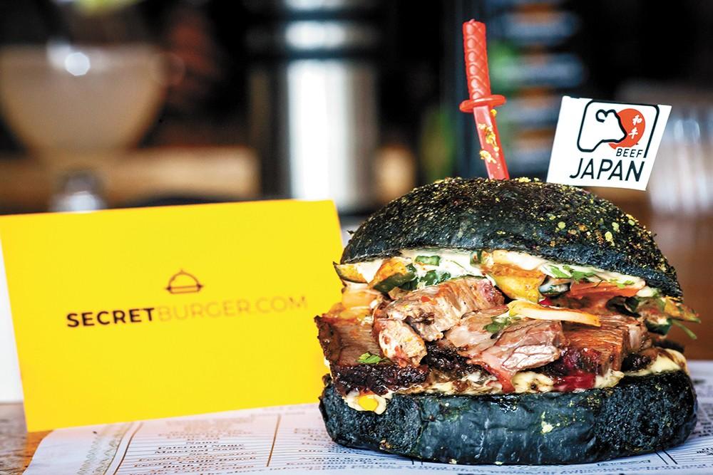 Zona Blanca served Japanese wagyu brisket for Secret Burger.