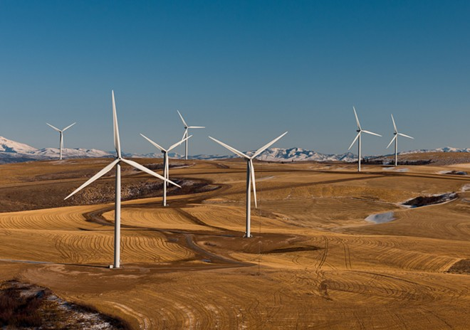 Windmills near Pocatello, Idaho. - U.S. DEPARTMENT OF ENERGY
