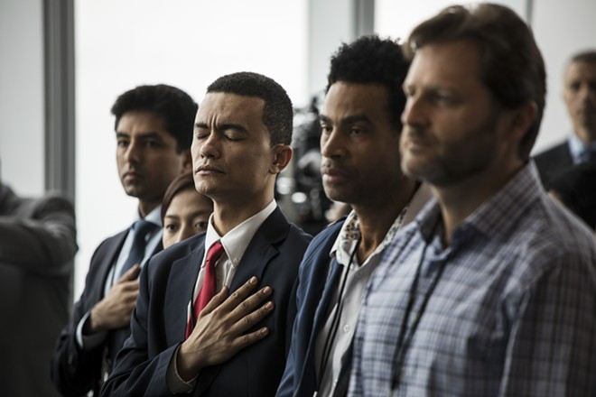 A naturalization ceremony at the held in the One World Trade Center observatory in Manhattan, Aug. 15, 2017. The Supreme Court's conservative majority seems ready to allow the Trump administration to add a question on citizenship to the 2020 census, which critics say would undermine its accuracy by discouraging both legal and unauthorized immigrants from filling out the forms. - TODD HEISLER/THE NEW YORK TIMES