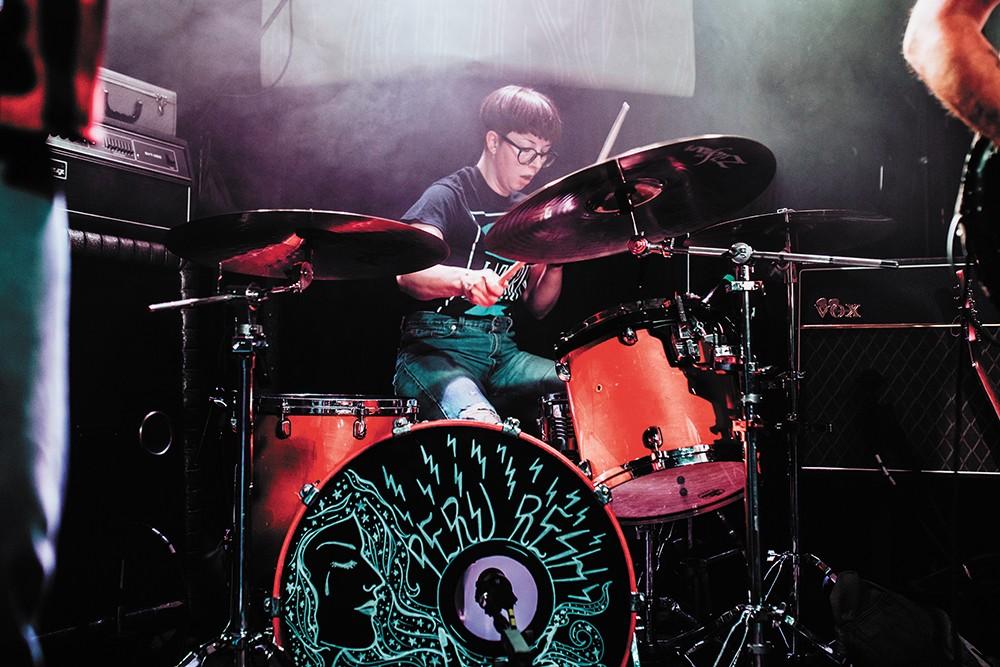 Haili Kiehn of punk trio Peru Resh, who are raising money for Hope House on Friday night. - ALICIA HAUFF PHOTO