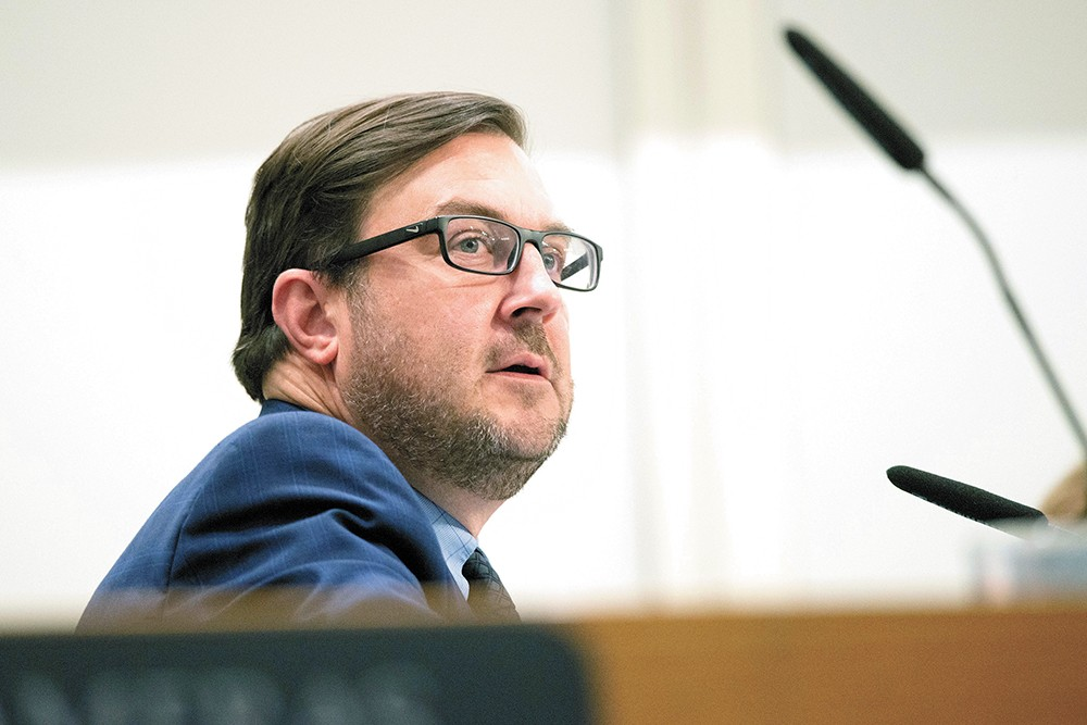 Council President Ben Stuckart argues that most Spokane voters don't fall into either extreme of the homelessness debate. - DANIEL WALTERS PHOTO