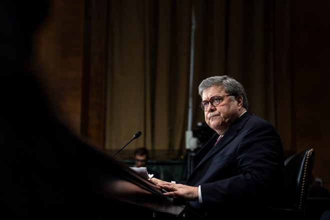 Attorney General William Barr testifies before the Senate Judiciary Committee, on Capitol Hill in Washington, May 1, 2019. The House Judiciary Committee will vote on May 6 to hold Barr in contempt of Congress, after the Justice Department appeared to miss a Monday deadline to negotiate the delivery of Robert Mueller's full report, along with key evidence collected by the special counsel. - ERIN SCHAFF/THE NEW YORK TIMES