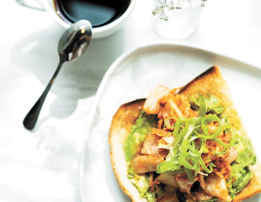 Indaba on Riverside's kimchi avocado toast. - HECTOR AIZON PHOTO