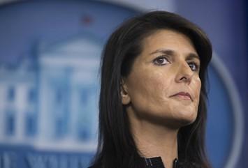 U.N. Ambassador Nikki Haley - TOM BRENNER/THE NEW YORK TIMES