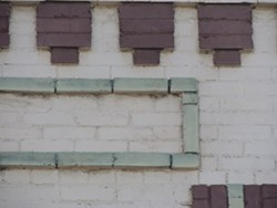 A brickwork feature I spotted while searching for scavenger hunt landmarks downtown. - LOGAN CAMPOREALE PHOTO