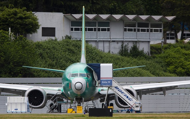 A Boeing 737 Max at the Renton Municipal Airport in Renton, Wash., May 15, 2019. Boeing is facing compensation claims from the three biggest airlines in China, which have grounded dozens of 737 Max jetliners since the deadly crash of an Ethiopian Airlines flight in March. - LINDSEY WASSON/THE NEW YORK TIMES