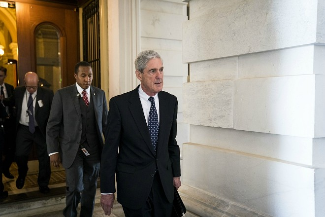 Robert Mueller, the special counsel investigating Russian interference in the 2016 election, at the Capitol in Washington, June 21, 2017. Mueller charged 13 Russian nationals and three Russian organizations on Feb. 16, 2018, with illegally using social media platforms to sow political discord, including actions that supported the candidacy of Donald Trump and disparaged his opponent, Hillary Clinton. - DOUG MILLS/THE NEW YORK TIMES