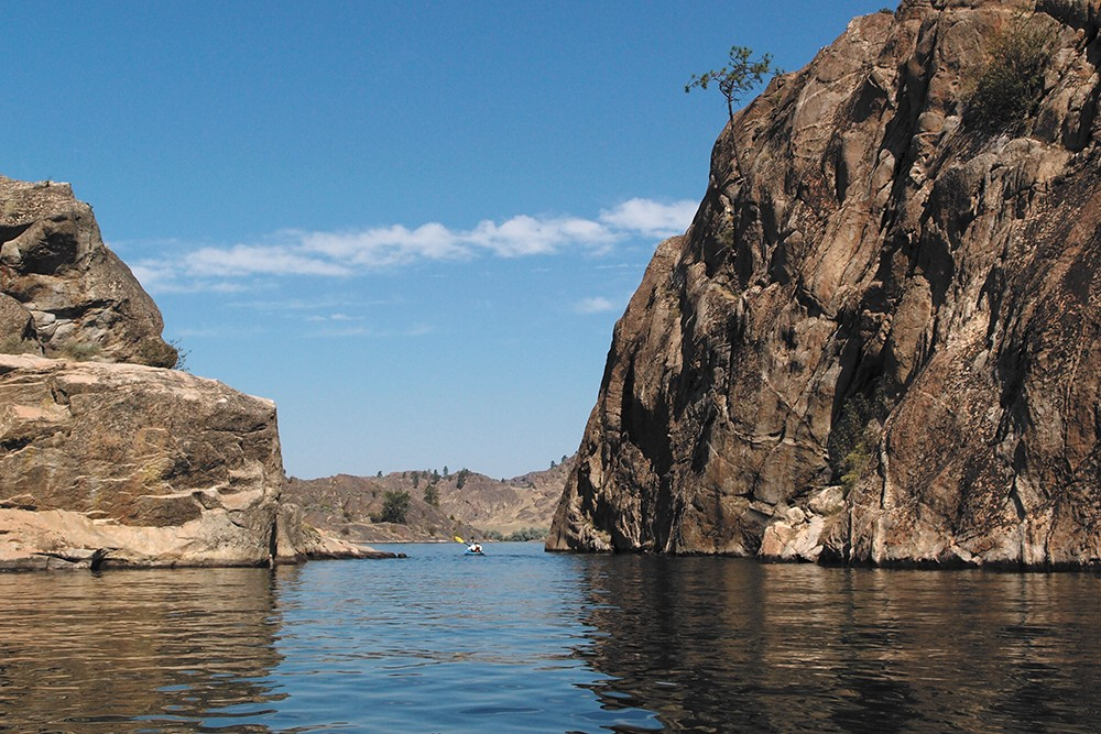 Steamboat Rock State Park, southwest of Grand Coulee, is an oasis in the middle of the desert.