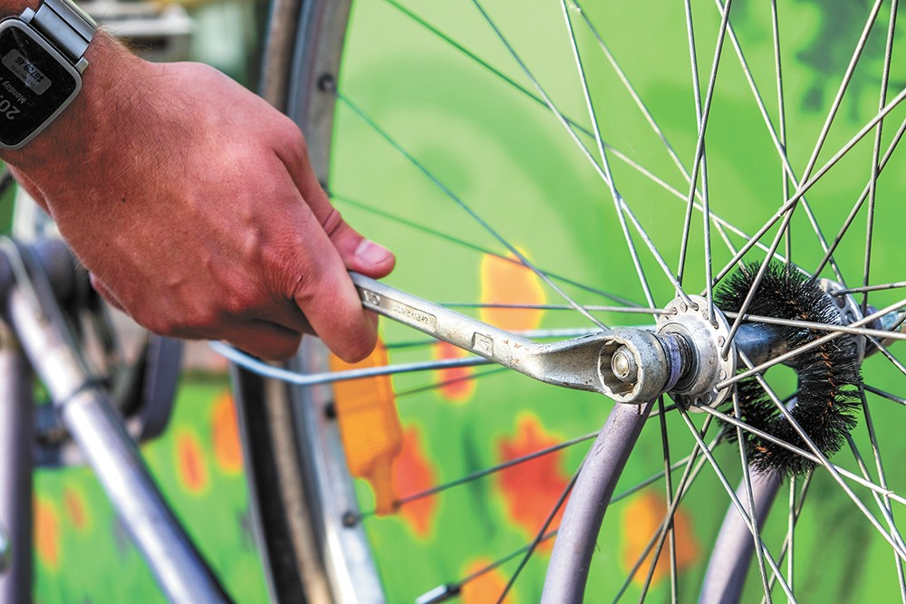 Learn the basics of bike repair at REI during several sessions this summer.
