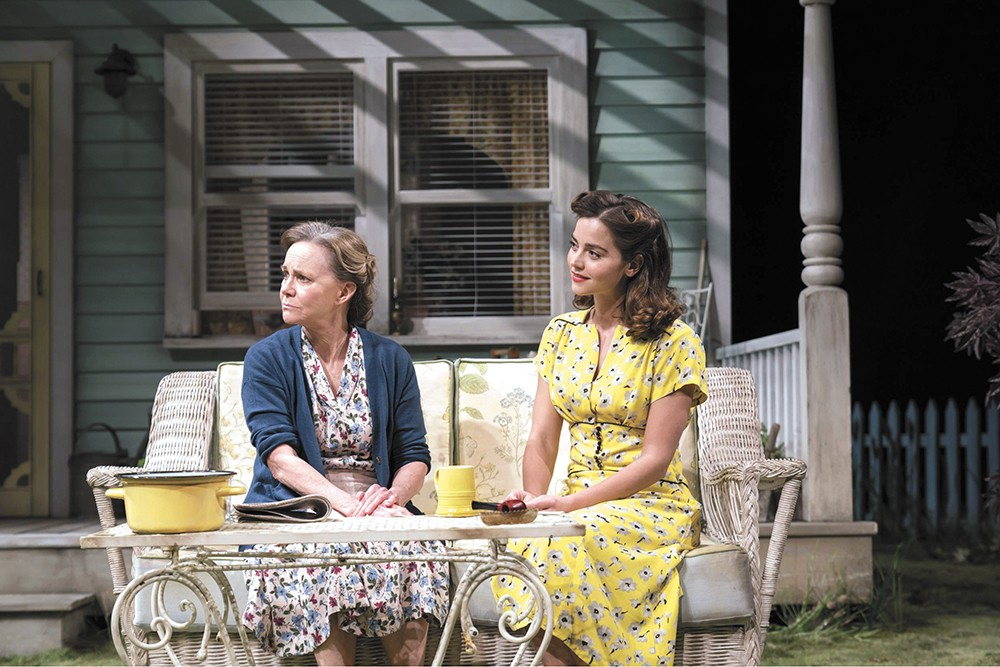 Sally Field (left) and Jenna Coleman in a highly acclaimed production of All My Sons, playing at the Bing on Aug. 18.