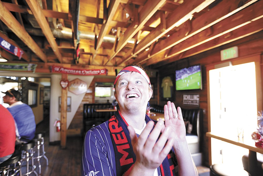 Conor Wigert, president of Spokane's chapter of U.S. soccer fan club American Outlaws. | - YOUNG KWAK