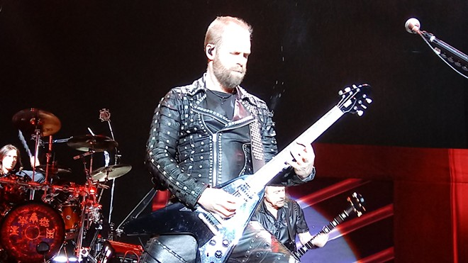 Producer Andy Sneap ably stepped into the role of Judas Priest guitarist Glenn Tipton, who is suffering from Parkinson's disease and unable to tour regularly. - DAN NAILEN PHOTO