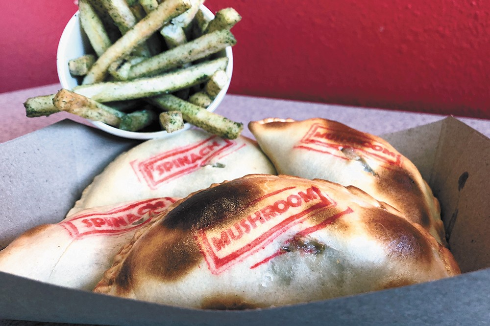Tarascon's spinach and mushroom empanadas. - DEREK HARRISON PHOTO