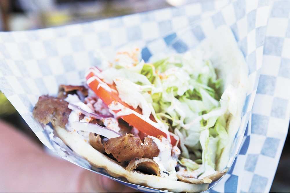 Azar's delivers a gyro pita so huge you'll probably need a fork.