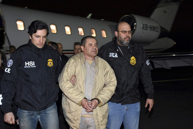In a photo released by U.S. law enforcement, Joaquín Guzmán Loera, the Mexican drug lord known as El Chapo, in federal custody on Long Island, Jan. 19, 2017. Guzmán was sentenced on July 17, 2019, to life in prison. The sentence, mandated by law as a result of the severity of Guzmán's crimes, was handed down in the Federal District Court in Brooklyn, where he was convicted last winter of drug, murder and money laundering charges after a sprawling three-month trial. - U.S. LAW ENFORCEMENT VIA THE NEW YORK TIMES