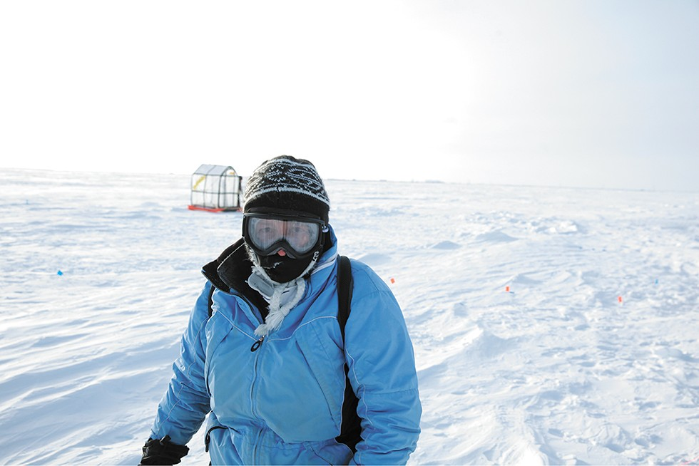 Leslie Field, founder of Ice911, is studying how nontoxic white microspheres could help reflect the sun's heat and safeguard arctic ice. - ICE911 PHOTO
