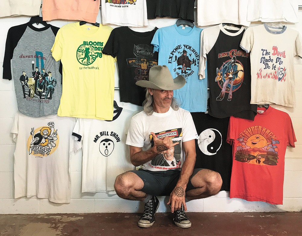 It's vintage graphic Ts galore for Wearlords. - JON SWANSTROM PHOTO