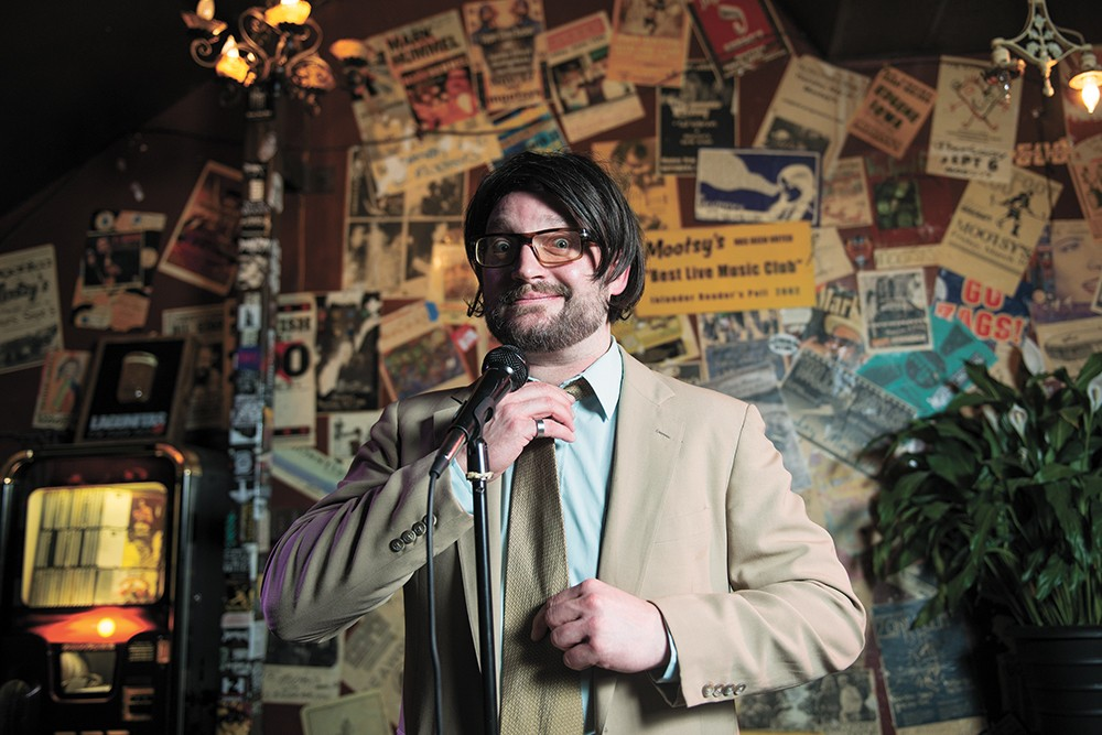 Danny Anderson aims to combine comedy with a childhood school game. - DEREK HARRISON PHOTO